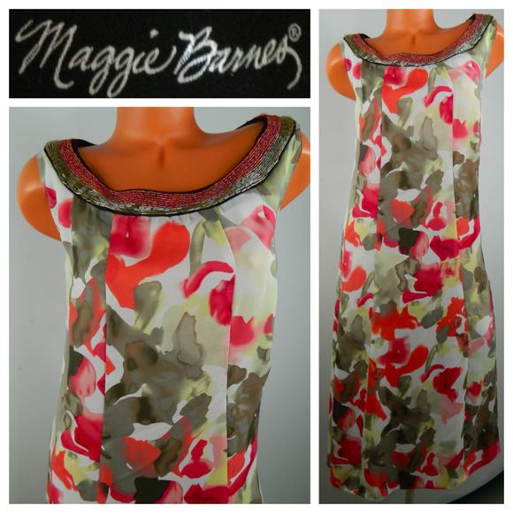 Maggie Barnes Dresses & Skirts - MAGGIE BARNES Maxi Midi DRESS 2X 18 20 Watercolor